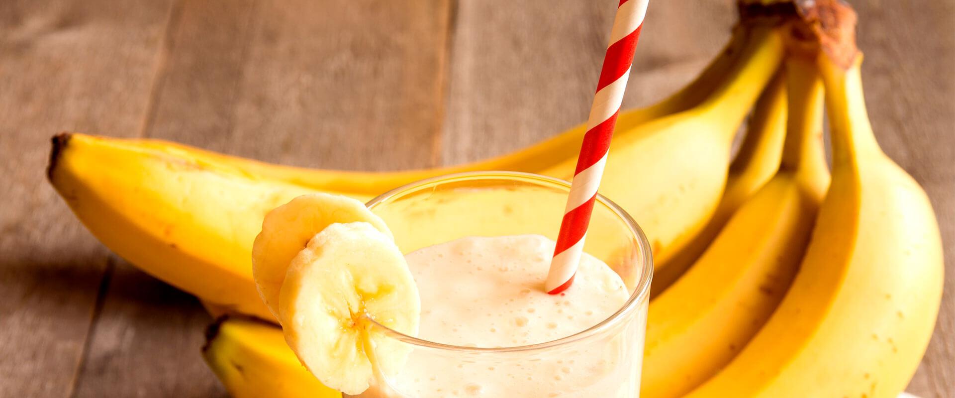 Fotografía de licuado de plátano.