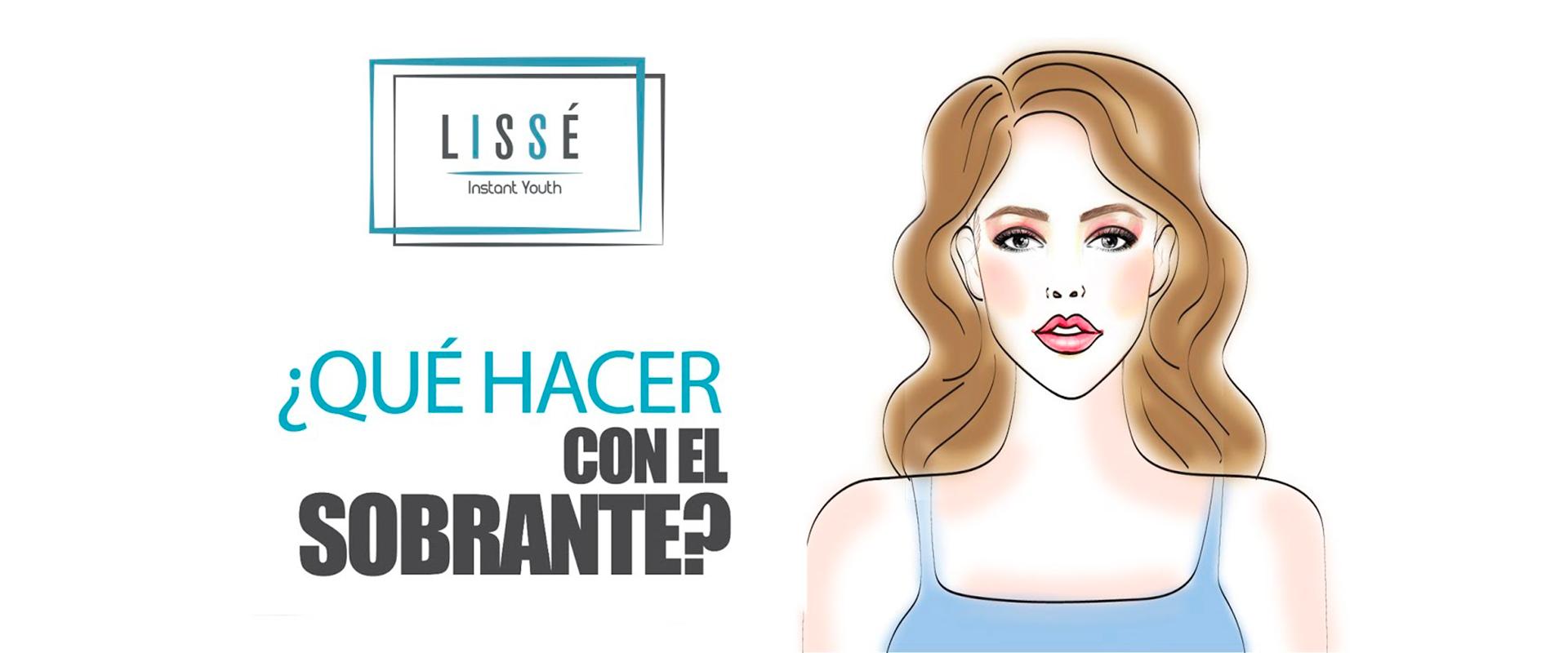 Imagen con ilustración para saber qué hacer si LISSE, producto de belleza, sobra luego de usarlo.
